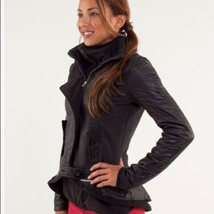 Lululemon Pedal Power Black Puffer Jacket Size 4